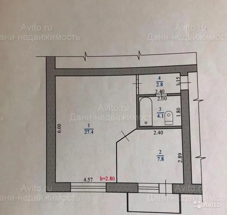 1-к квартира, 41,1 м, 5/5 эт. - Фото 14