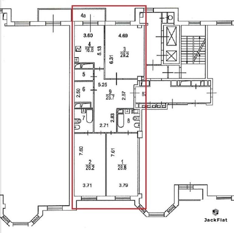 "ЖК ""Royal House on Yauza""- 4-х комн. кв-ра, 152 кв.м, 5 эт, 8 секция - Фото 28"