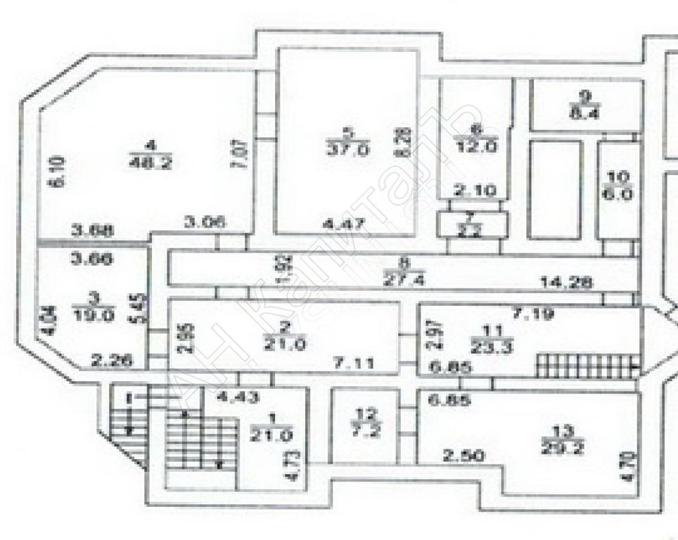 Нежилое помещение 262 кв.м. в г. Москва Столярный пер. дом 2 - Фото 13