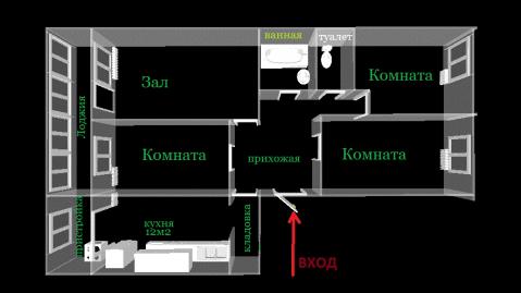 4 комнатная квартира на Дзусова - Фото 13