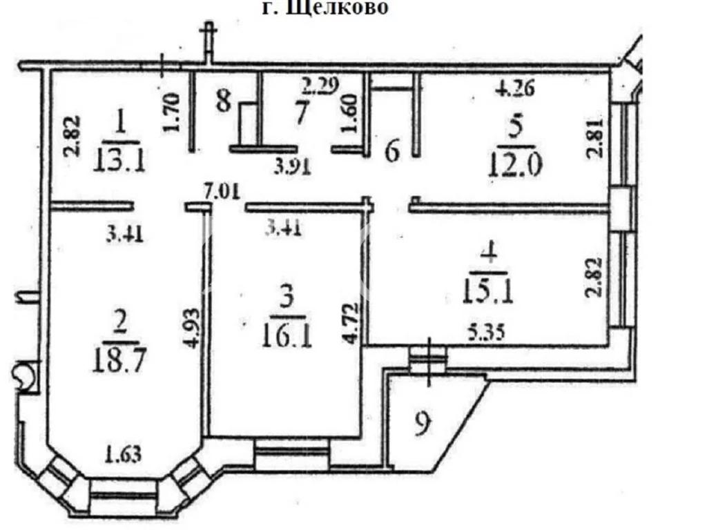 3-комн. квартира, Щелково, ул Центральная, 96к3 - Фото 30