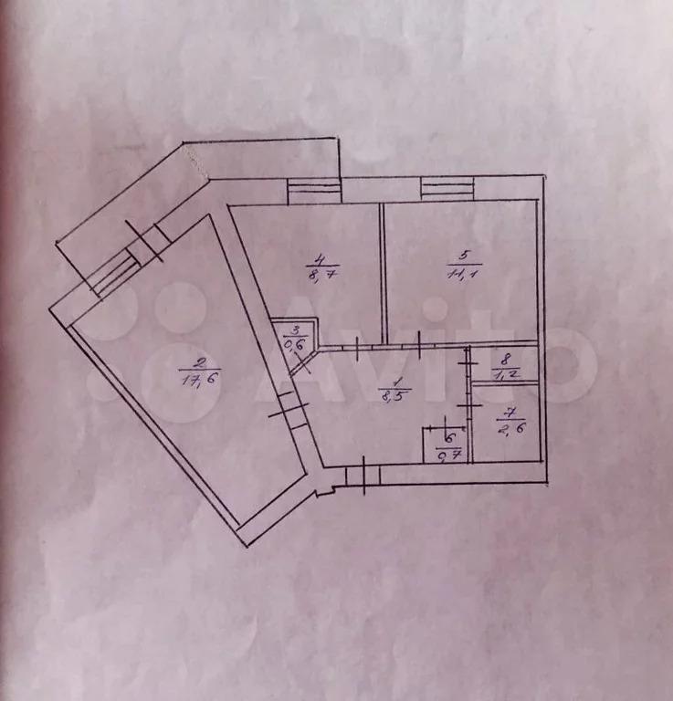 2-к квартира, 51 м, 2/5 эт. - Фото 15