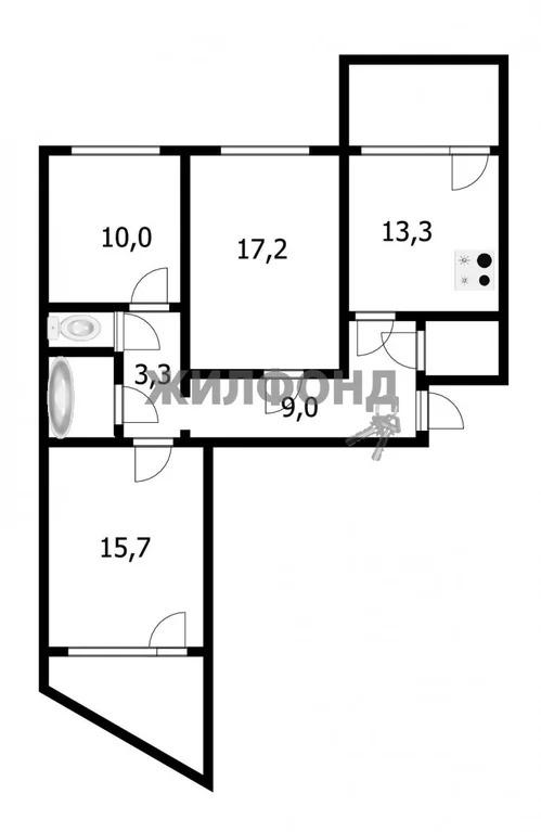 Продажа квартиры, Новосибирск, м. Заельцовская, Ул. Менделеева - Фото 8