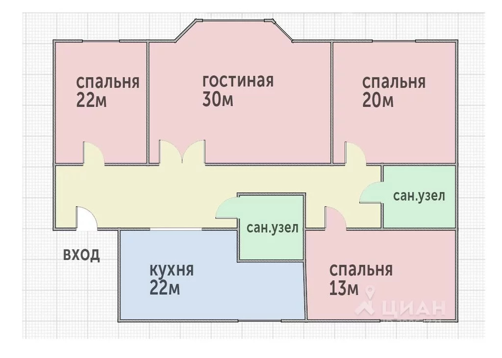 4-к кв. Москва Трехпрудный пер, 11/13с1 (150.0 м) - Фото 1