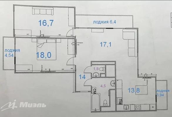 Продается 3к.кв, г. Балашиха, Горенский - Фото 19