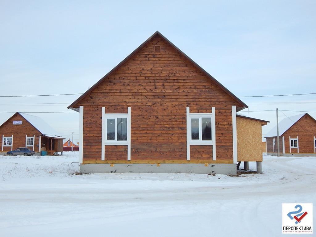 Одноэтажный дом из бруса, общей площадью 70 кв.м, на земельном участк - Фото 0