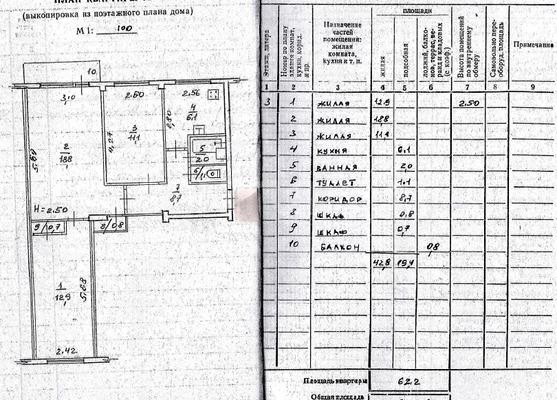 Предлагается к покупке 3-к квартира 62,2 м кв по ул. Ключевая д. 22б - Фото 17