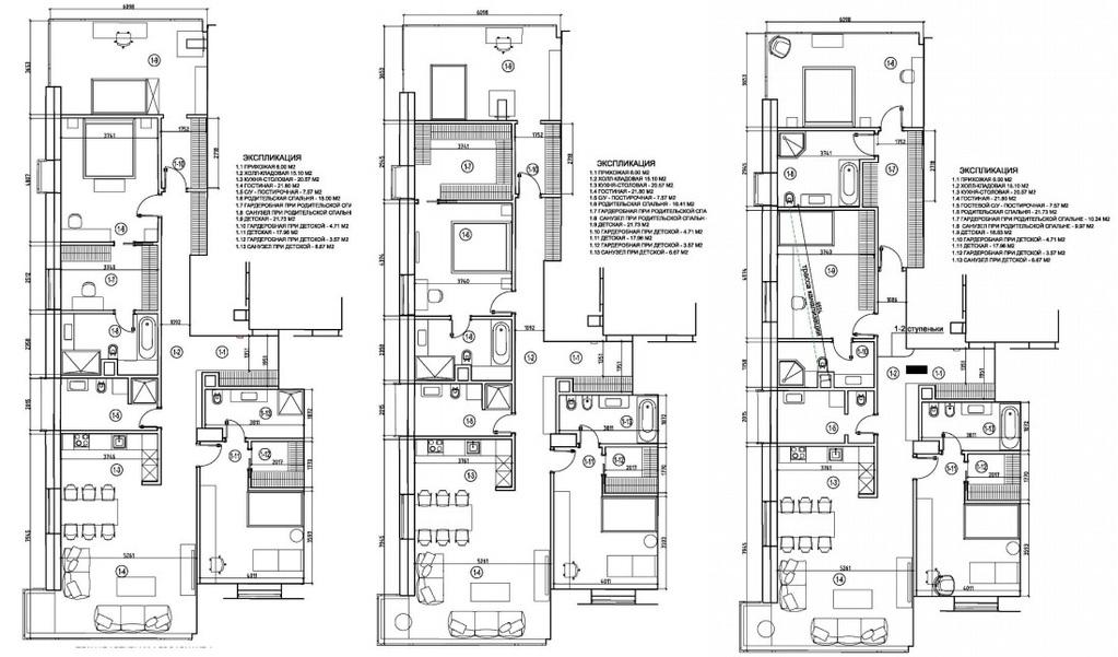 ЖК Снегири Эко - кв-ра 168 кв.м, 3 спальни и 45 м.кухня-гостиная, 3/6 - Фото 7