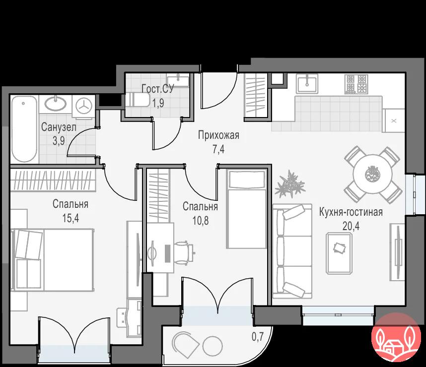 Продажа квартиры, Академика Королёва - Фото 0
