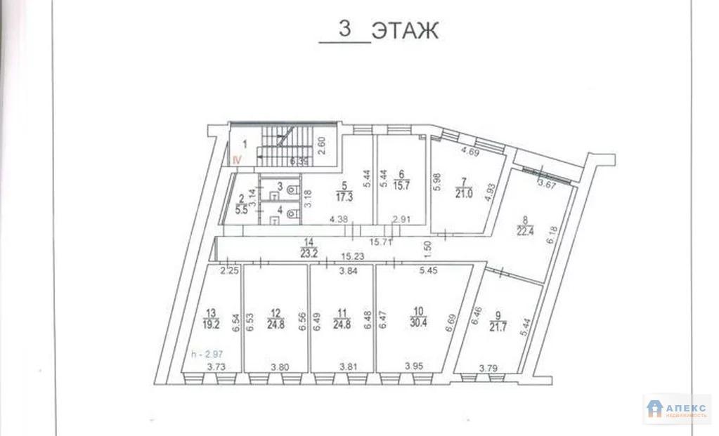 Аренда офиса 232 м2 м. Добрынинская в бизнес-центре класса В в . - Фото 1