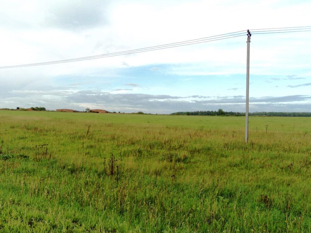 С/х земля 6,64 Га в деревне Милятино, асфальт, электричество, река - Фото 1