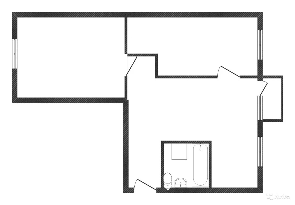 3-к квартира, 56 м, 4/5 эт. - Фото 9