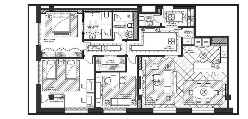 "ЖК ""Сады Пекина""- Penthouse, 177 кв.м, 13/13 этаж, 1 корпус, 5 спален - Фото 35"