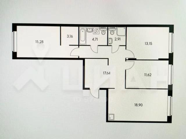 3-комн. квартира, 87 м в ЖК Влюблино - Фото 15
