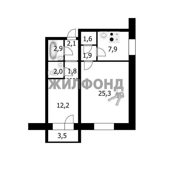 Продажа квартиры, Новосибирск, м. Золотая Нива, Ул. Татьяны Снежиной - Фото 12