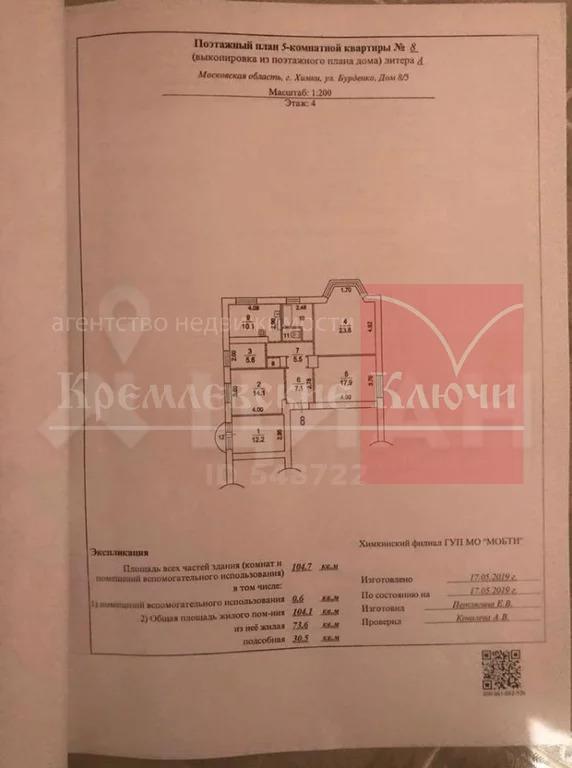Продажа квартиры, Химки, Ул. Бурденко - Фото 18