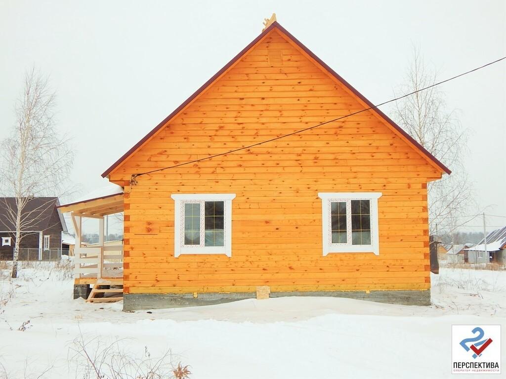 Одноэтажный дом из бруса, общей площадью 65 кв.м, на земельном участк - Фото 0