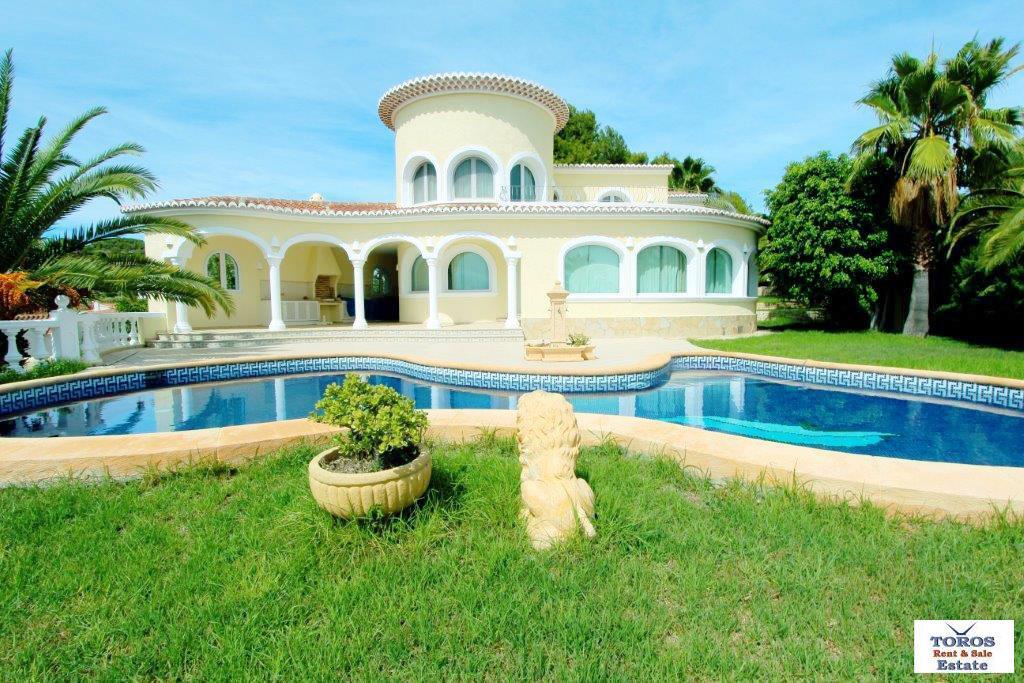 Элегантная вилла в Испании с большим садом и видом на море, Бенисса - Фото 0