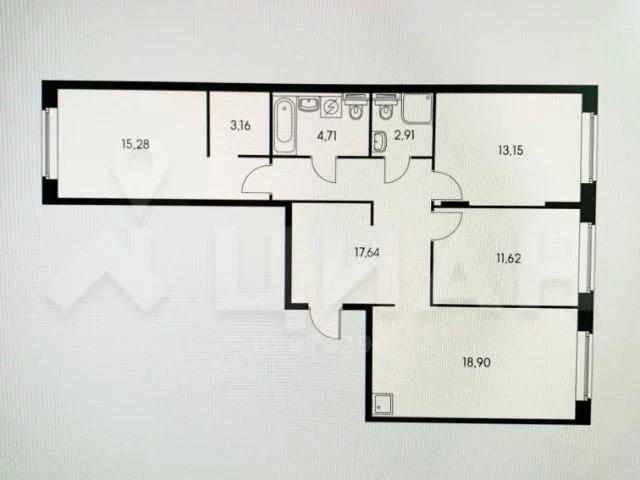 4-комн. квартира, 87 м в новом ЖК - Фото 16