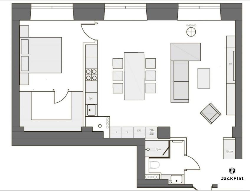 Роскошный апартамент 71кв.м в лофт-квартале ЖК Даниловская Мануфактура - Фото 7