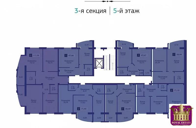 Продается квартира Респ Крым, г Симферополь, ул Битакская, д 17 - Фото 2
