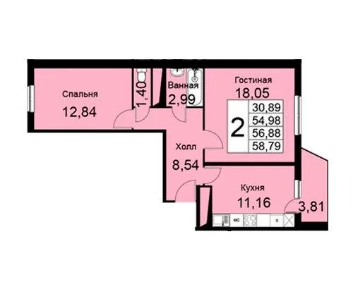 Продажа квартиры, Малые Вяземы, Одинцовский район, 6 - Фото 5