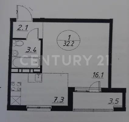 Продажа квартиры-студии 32,2 м на 3/10 этаже панельного дома на ул. - Фото 18