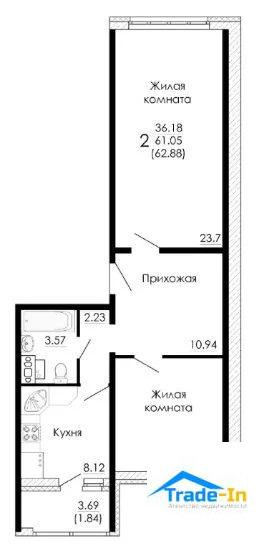 Продажа квартиры, Воронеж, Ул. Фёдора Тютчева - Фото 0