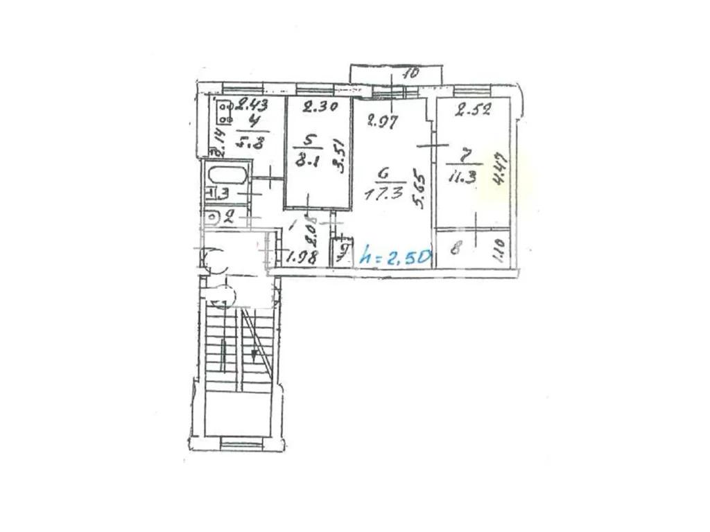 3-комн. квартира, Королев, ул Сакко и Ванцетти, 16 - Фото 1