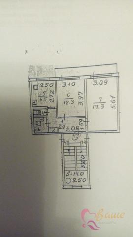 Плещеевская 56в,2 комнатная квартира - Фото 17