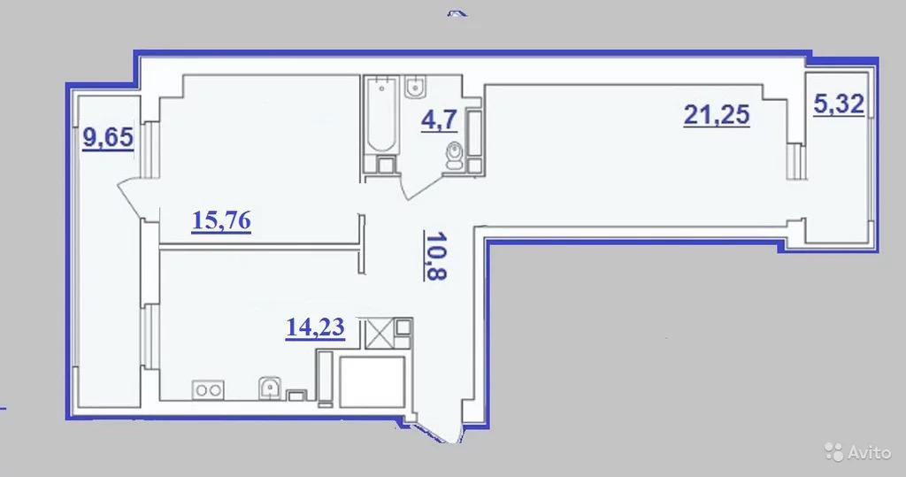 2-к квартира, 74.2 м, 13/16 эт. - Фото 0