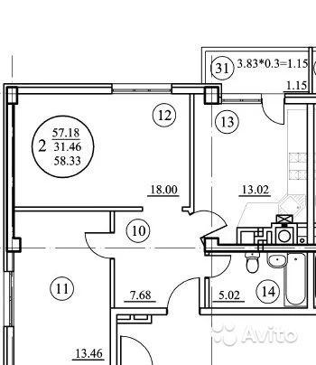 2-к квартира на Шмидта, 60 м, 2/7 эт. - Фото 8