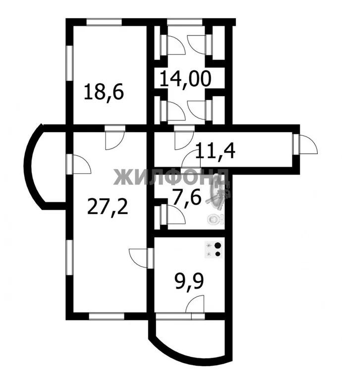 Продажа квартиры, Новосибирск, м. Студенческая, Горский микрорайон - Фото 13