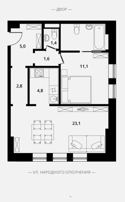 Продажа квартиры, Ул. Народного Ополчения - Фото 0