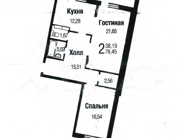 2-комн. квартира, 83,7 м - Фото 28