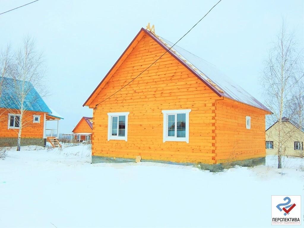 Одноэтажный дом из бруса, общей площадью 65 кв.м, на земельном участк - Фото 1