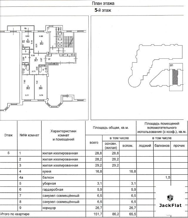 "ЖК ""Royal House on Yauza""- 4-х комн. кв-ра, 152 кв.м, 5 эт, 8 секция - Фото 27"