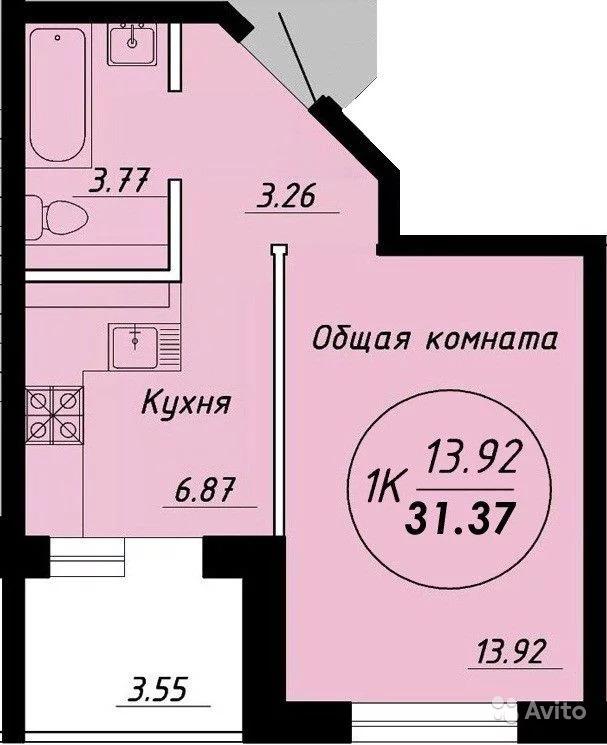 1-к квартира, 30 м, 3/6 эт. - Фото 0