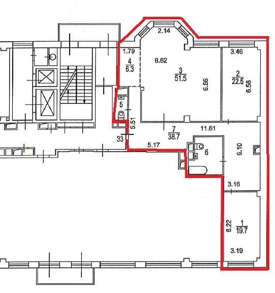 """151 кв.м. на 9 этаже в 1 секции в ЖК """"Royal House on Yauza"""" - Фото 44"""