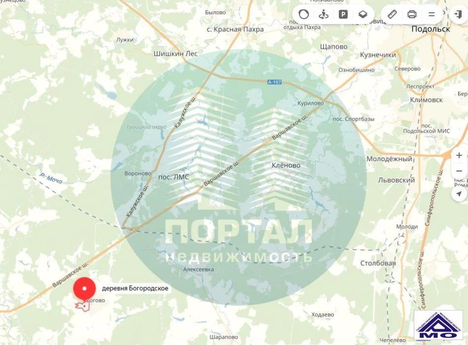 Продажа участка, Богородское, Воскресенское с. п. - Фото 0