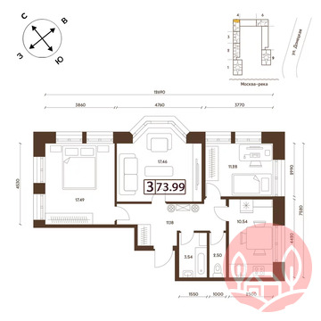 Продажа квартиры, м. Марьино, Ул. Донецкая