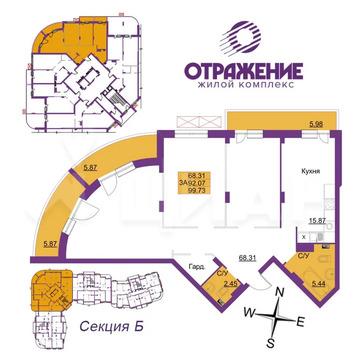 3-к кв. Владимирская область, Владимир ул. Горького (99.73 м)