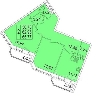 2-к кв. Московская область, Мытищи ул. Красная Слобода, 9 (69.4 м)