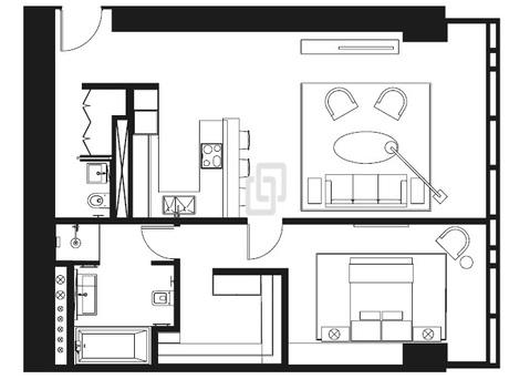 Апартаменты 84.60 кв.м. око, Купить квартиру в Москве, ID объекта - 334069658 - Фото 6