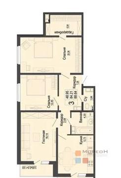 3-к квартира, 88.6 м, 10/16 эт.