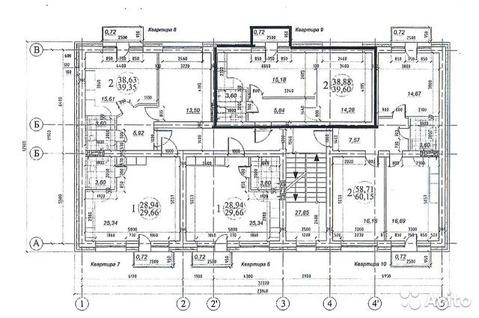 1-к квартира, 39.6 м, 2/3 эт.