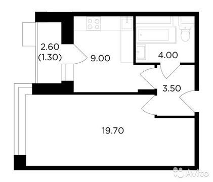 1-к квартира, 37.5 м, 2/18 эт.