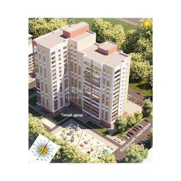 Космонавтов 17 (2-ком, 45 м2), Купить квартиру в Барнауле, ID объекта - 333546751 - Фото 1