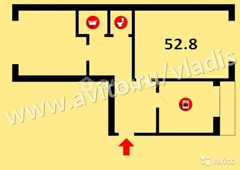 2-к квартира, 52.8 м, 2/5 эт.
