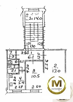 2-к квартира, 44.4 м, 4/5 эт.